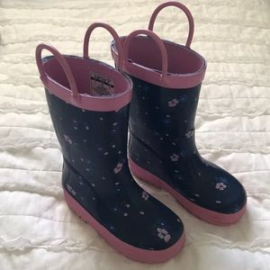 Carter's girls size 7 floral rain boots